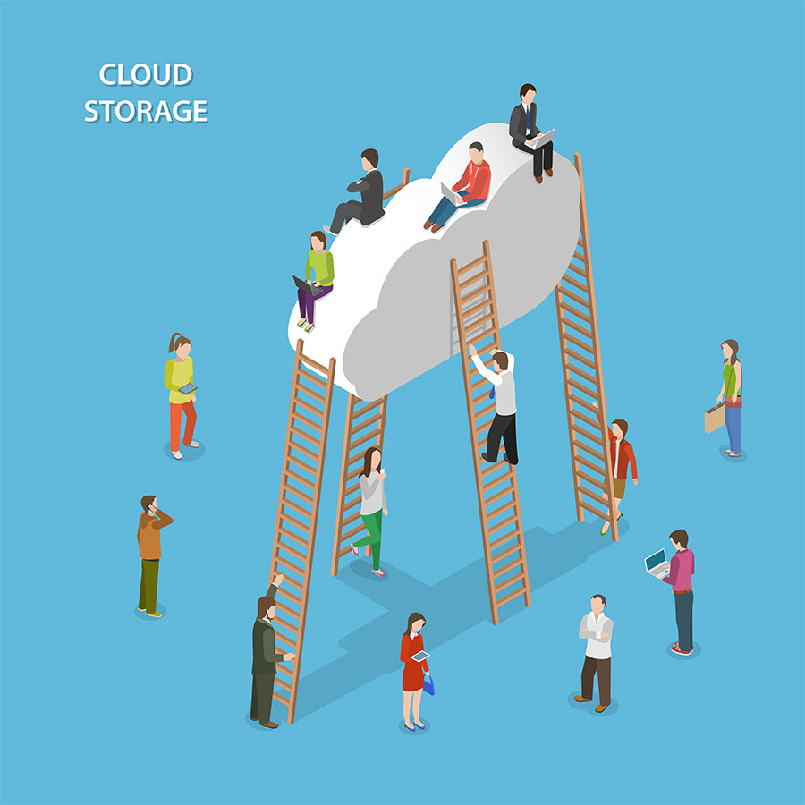 Migrated Cloud Users Working Together